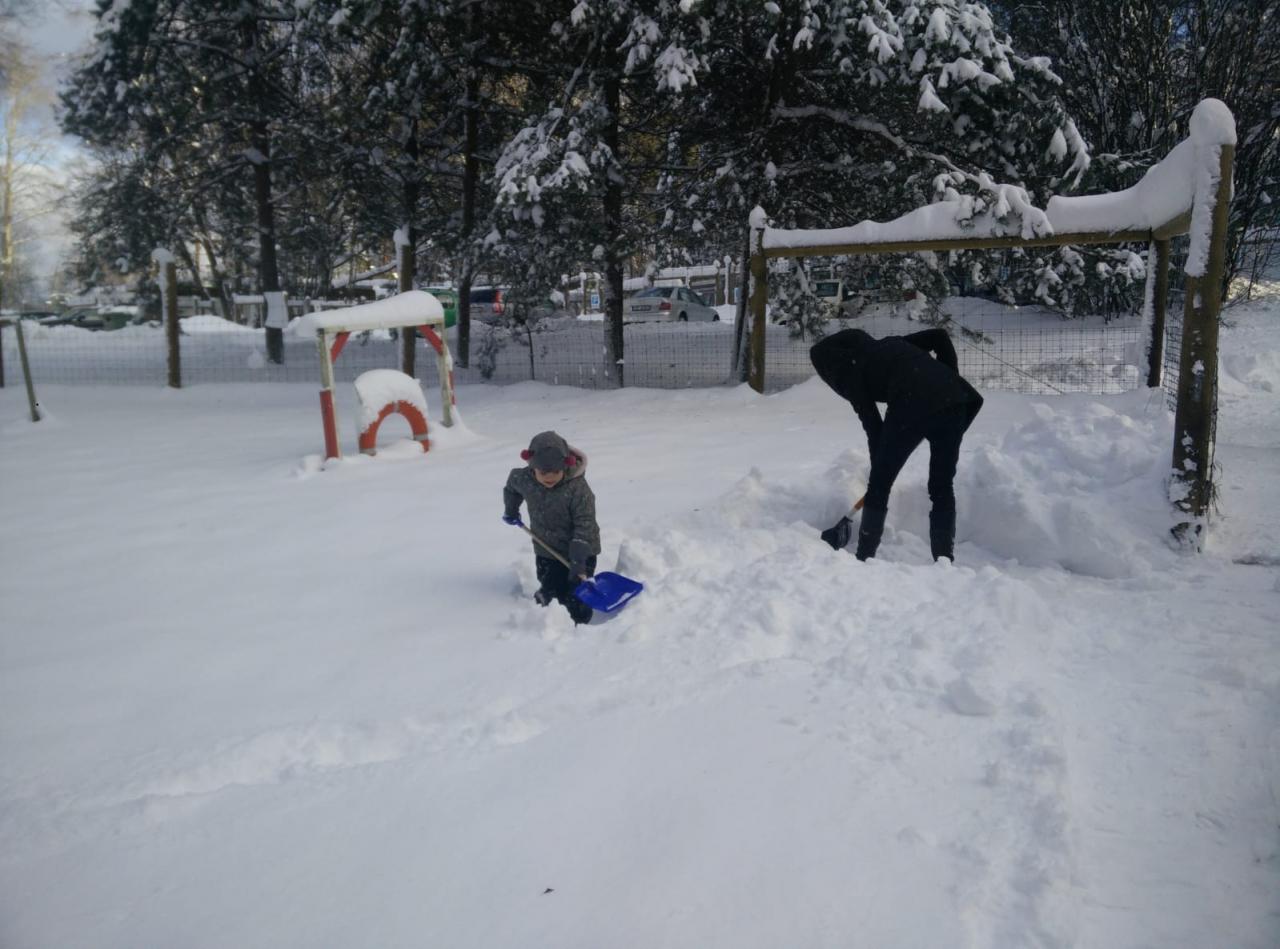 Pērnā gada ziemas brīvdienās Sanda Dejus tā vietā, lai izbaudītu dīkas brīvdienas, ar ģimeni guva prieku, tīrot sniegu dzīvnieku patversmes teritorijā.