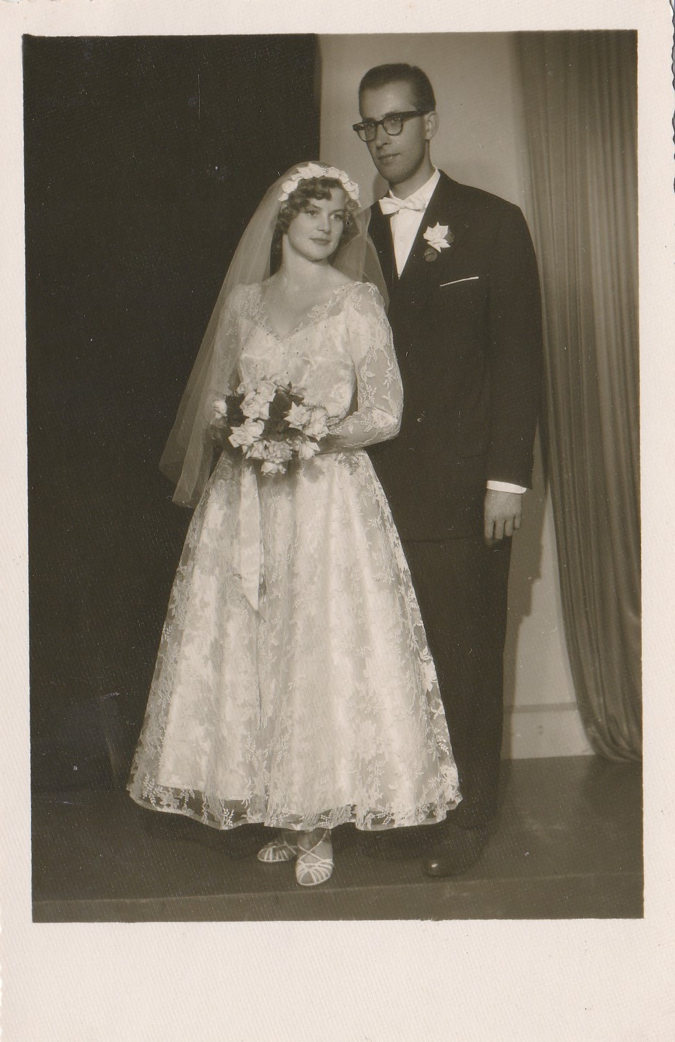 Līga un Ivars Mazuri kāzu dienā.