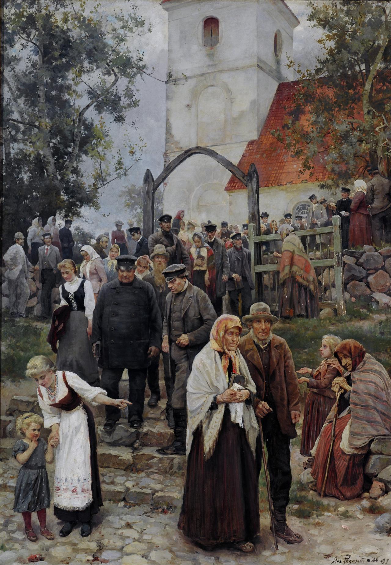 """Janis Rozentāls """"No baznīcas"""" (Wikimedia)"""