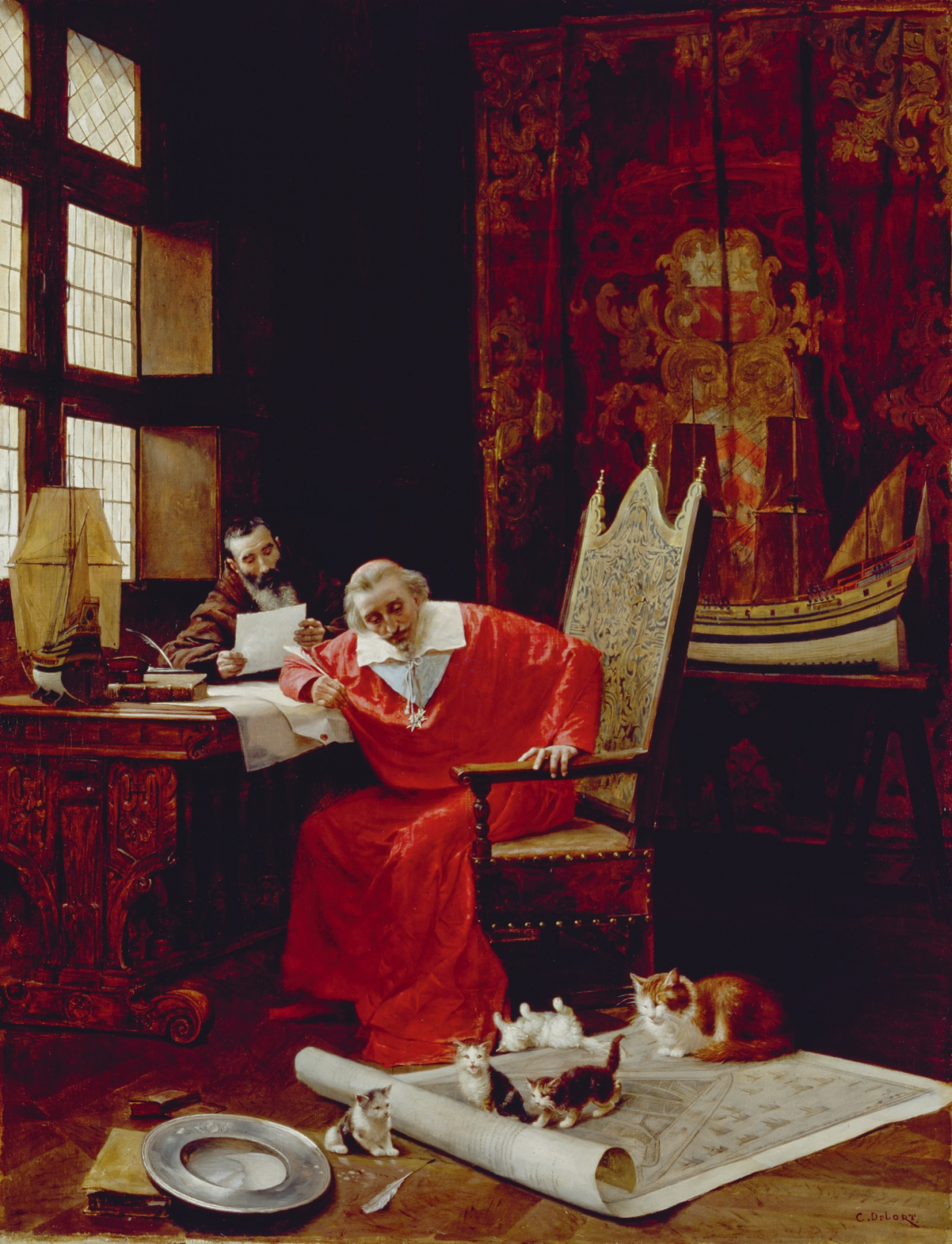 Kardināls Rišeljē un viņa kaķi