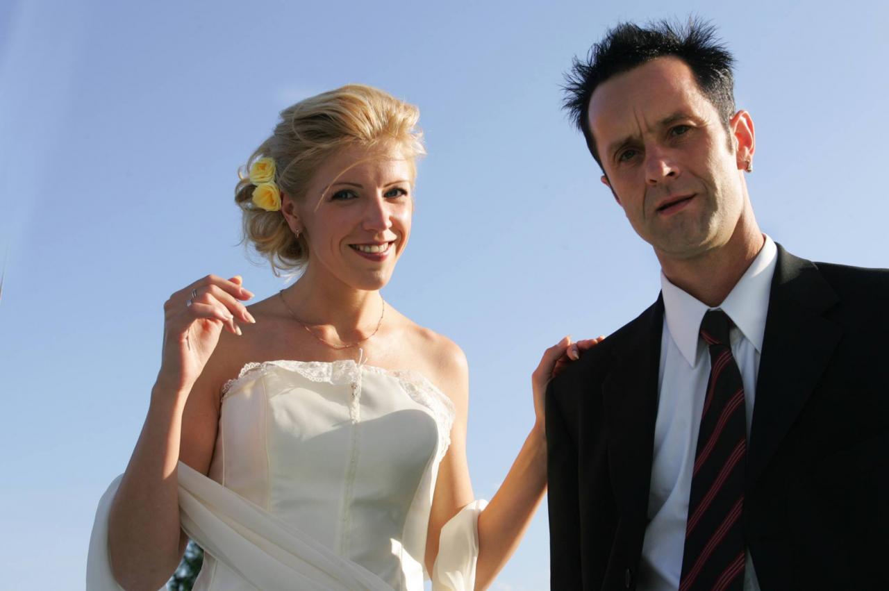 AIGARS un AIJA kāzu dienā 2004. gada 15. augustā.