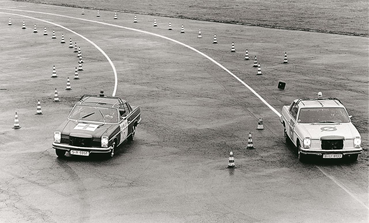 Mercedes-Benz demonstrācija jau tālajā 1978. gadā nepārprotami pierādīja ABS priekšrocības
