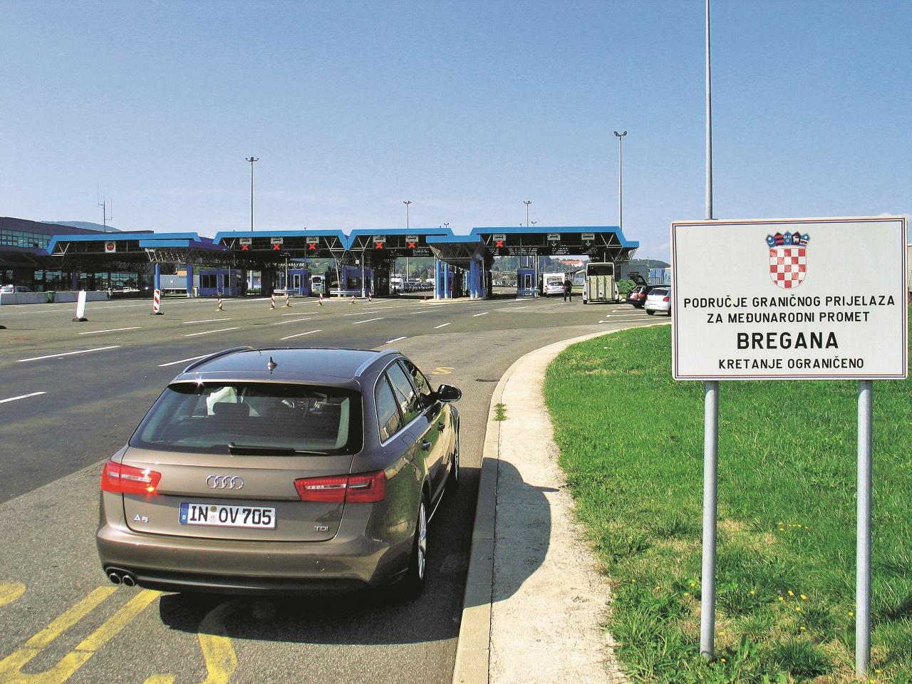 Pāri robežām: šeit mēs esam Breganā, uz robežas starp Horvātiju un Slovēniju.