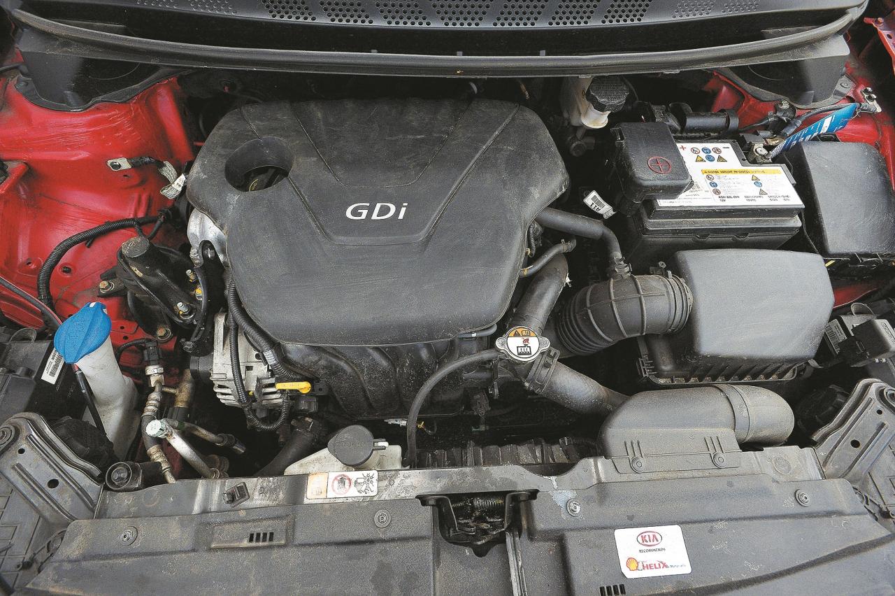 Vājas krūtis: 1,6 l tiešās iesmidzināšanas dzinējs uz testa stenda spēja uzrādīt vien 128 ZS – par 7 ZS mazāk, nekā solīja Kia. Tam īpaši grūti klājās augstākajos pārnesumos.