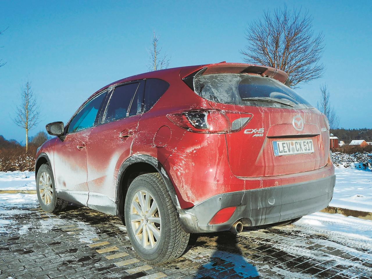 Garā distance Somijā: izturības testā CX-5 tas bija īsts izaicinājums, ar kuru tas tika galā bez kurnēšanas.
