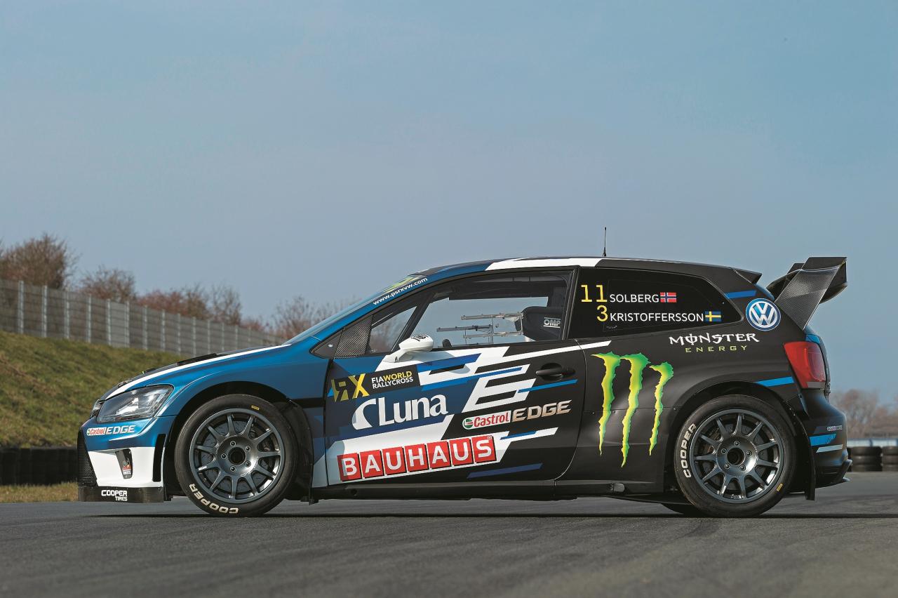 PSRX Volkswagen World RX Team Sweden komandas braucēju Petera Sūlberga un Johana Kristofersona auto, kurš ir Priednieka aprūpē