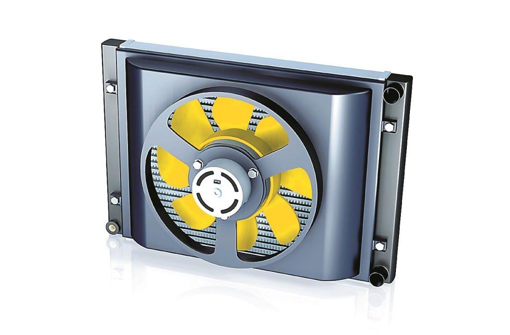 Kad auto nebrauc, vēju nodrošina elektrisks ventilators.