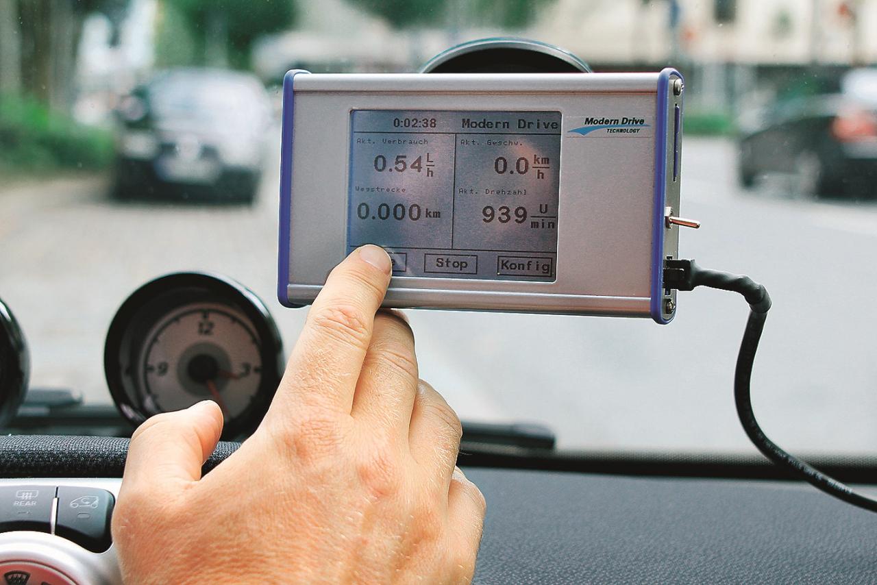 Mērījumu brauciens Hamburgas ielās: Modern Drive brauciena datu ierakstītājs nosaka degvielas patēriņu precīzi līdz pat litra simtdaļai