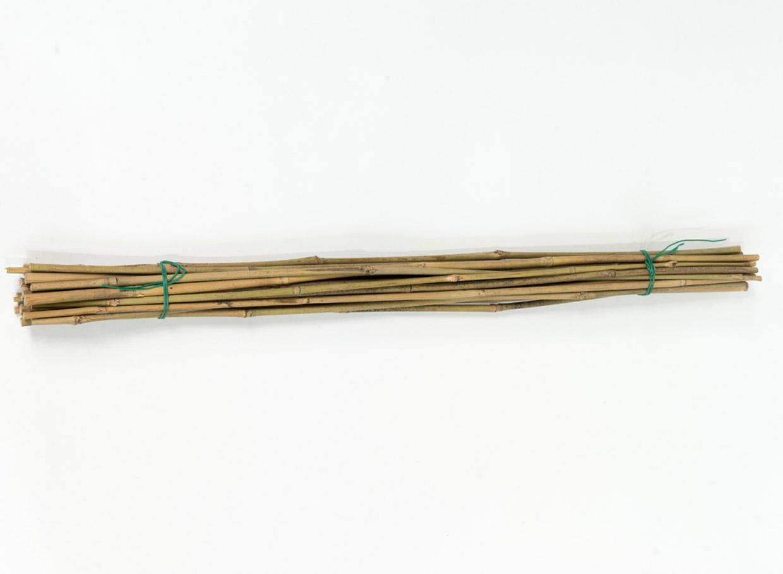 Bambusa mietiņu komplekts (20 gab.), augstums 60 cm, diametrs 5 –7 mm, cena – 1,66 eiro.