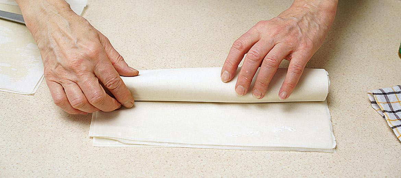 Neizmantotās mīklas plāksnes iespējams atkārtoti sasaldēt, ievietojot tās atpakaļ pakā vai ietinot pārtikas plēvē.