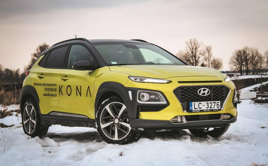 <strong>Hyundai Kona</strong> pirmais testa brauciens<br />