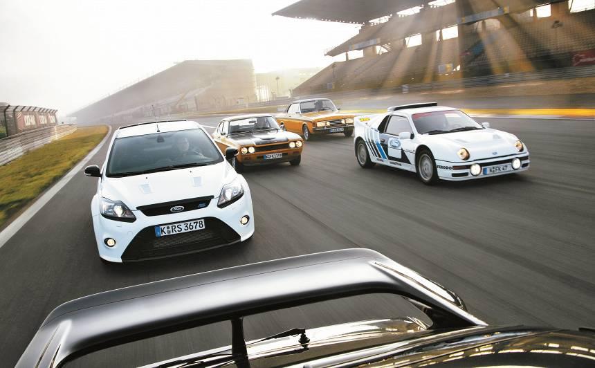 <strong><em>Ford Focus RS</em> spēks</strong> un spožums — <em>RS</em> sportistu saimes vēsture