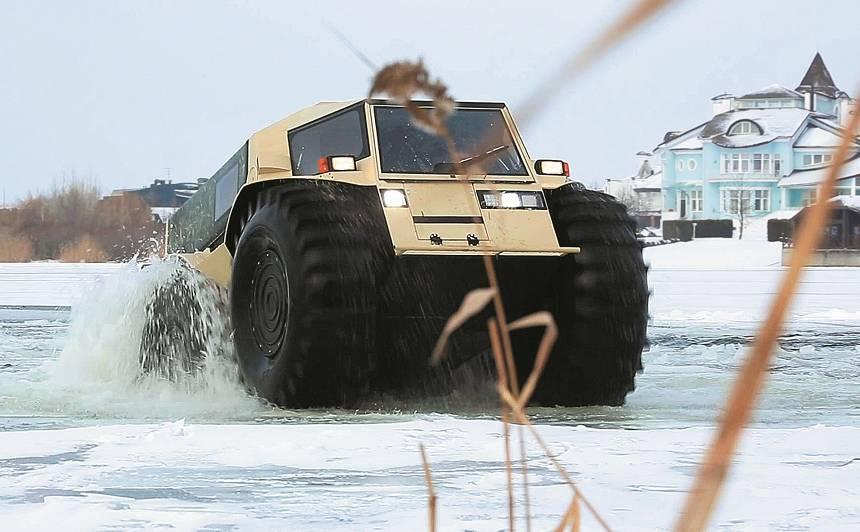 Mednieka un makšķernieka sapnis – <strong>krievu visurgājējs Sherp</strong>