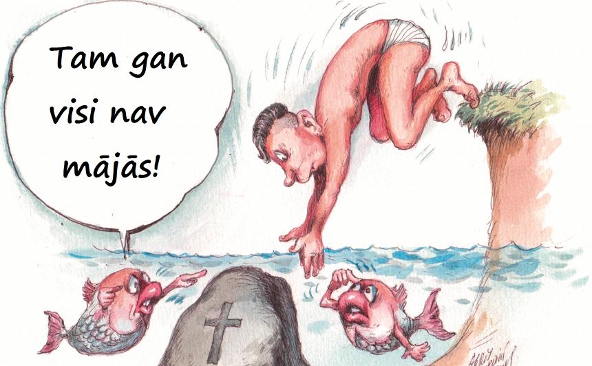 <strong>Lēciens uz galvas ūdenī</strong> ir krievu rulete