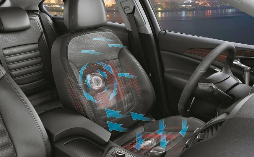 Vai auto var aprīkot ar <strong>ventilējamiem sēdekļiem?</strong>
