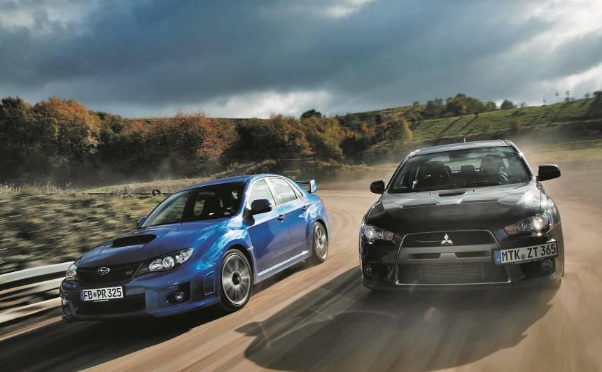Zudušās leģendas — <strong><em>Subaru WRX STI</em></strong> pret <strong><em>Mitsubishi Lancer Evolution</em></strong>