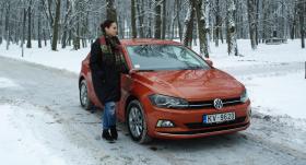 Testējam auto tandēmā: dziedātāja <strong>Aija Vītoliņa <em>(Amber</em>)</strong> un <strong><em>Volkswagen Polo</em></strong>