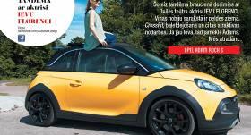 Testējam auto tandēmā: aktrise <strong>Ieva Florence</strong> un <strong><em>Opel Adam Rocks S</em></strong>