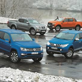<strong>Četri lietoti pikapi</strong> no <em>Volkswagen</em>, <em>Nissan</em>, <em>Mitsubishi</em> un <em>Ford </em> — <strong>kurš būs labākais?</strong>