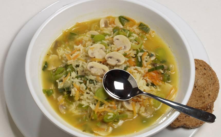 Sēņu zupa ar rīsiem recepte