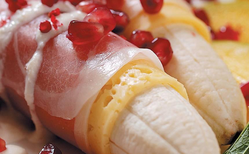 Pikantie banāni recepte