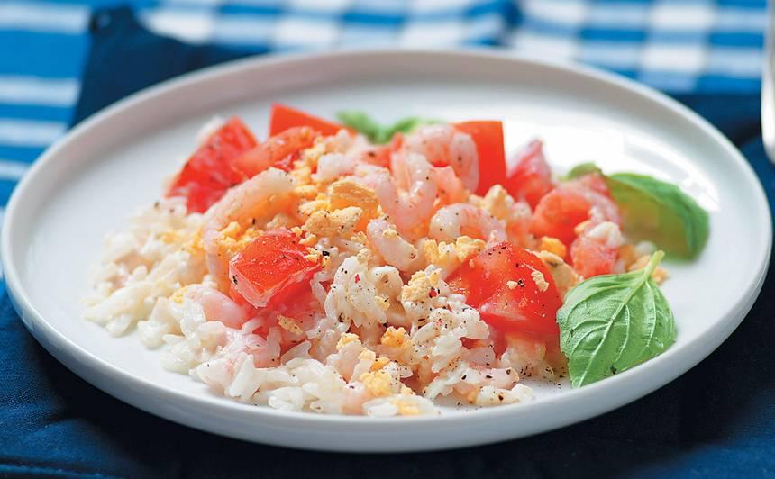 Garneļu salāti recepte