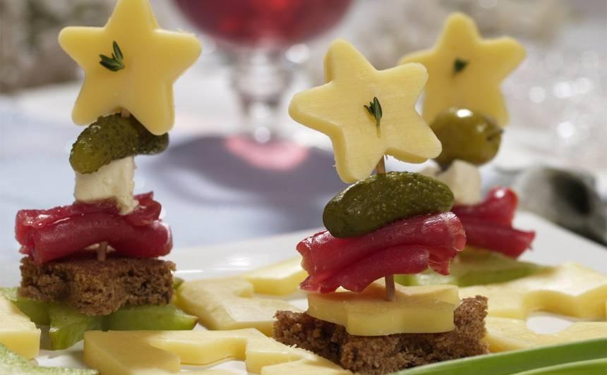 Zvaigžņu kanapē recepte