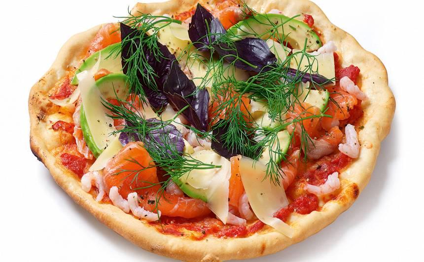 Pica ar lasi un garnelēm recepte