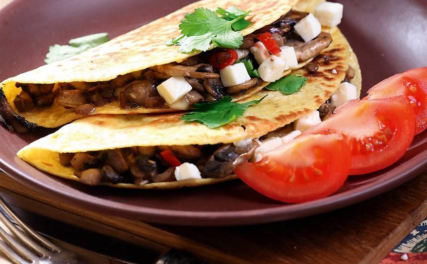 Tortiljas ar šampinjoniem recepte
