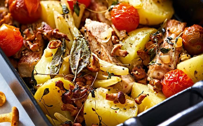 Dārzeņu un gaļas sacepums recepte