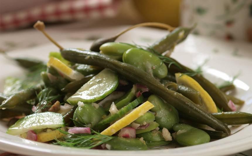 Salāti ar cūku pupām recepte
