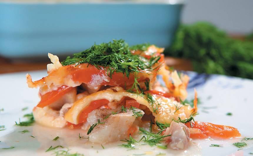 Zivs filejas sacepums ar tomātiem recepte
