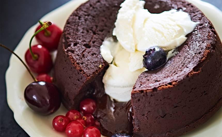 Šokolādes fondants recepte