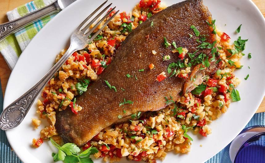 Cepta zivs ziedkāpostu putraimos recepte