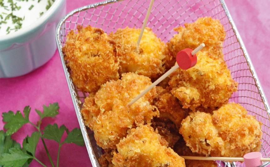 Kraukšķīgie ziedkāpostu kumosiņi recepte