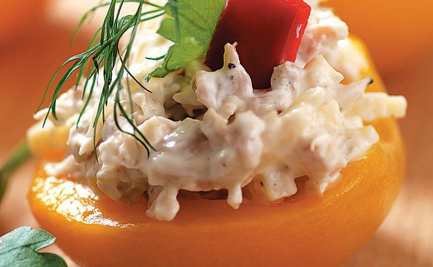 Vistas salātiņi persikos recepte