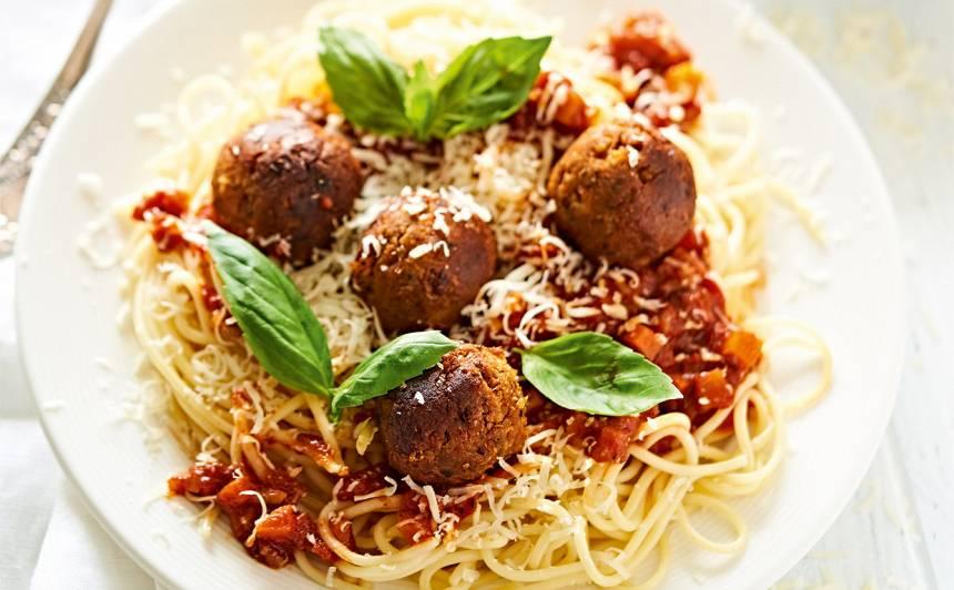Turku zirņu bumbiņas ar spageti recepte