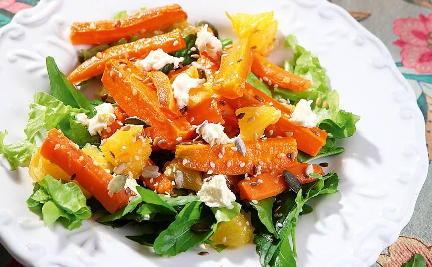Burkānu salāti ar apelsīniem recepte