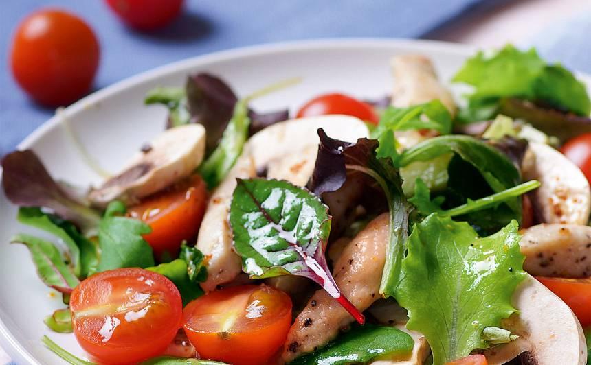 Salāti ar vistas fileju recepte