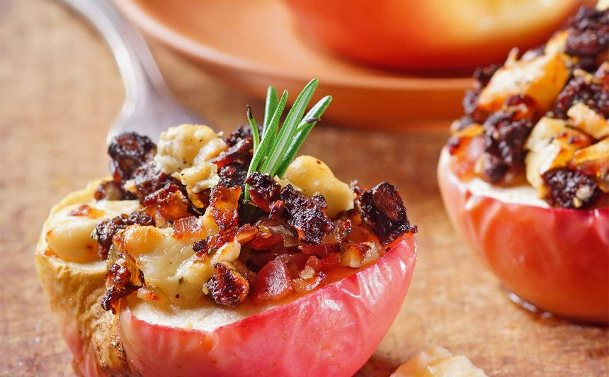 Cepti āboli ar siera un bekona pildījumu recepte