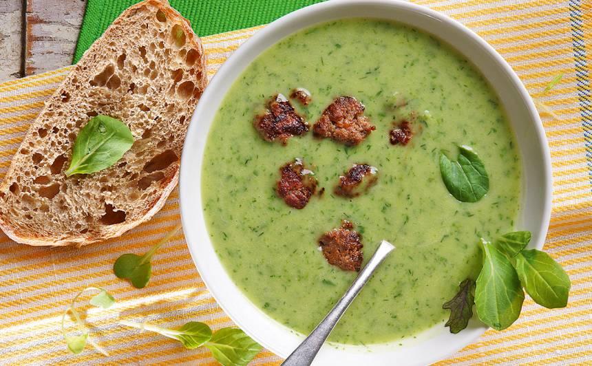 Svaigo zaļumu zupa ar liellopu gaļu recepte