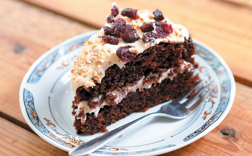 Kakao un burkānu kūka recepte
