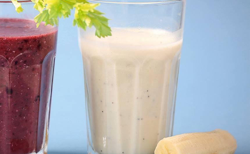 Rīsu piena, banānu dzēriens ar ingveru recepte