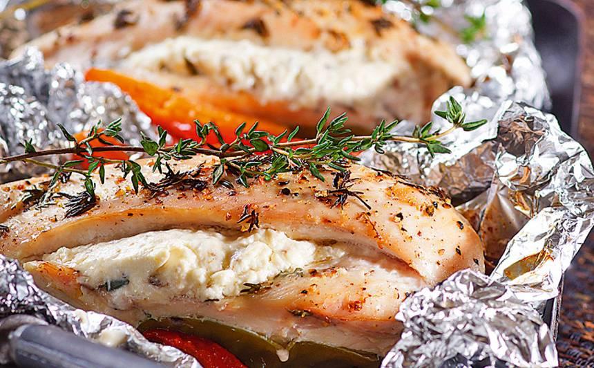 Ar krēmsieru pildītas vistas filejas recepte