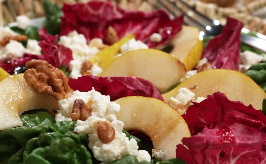 Redičio salāti ar lauku biezpienu recepte