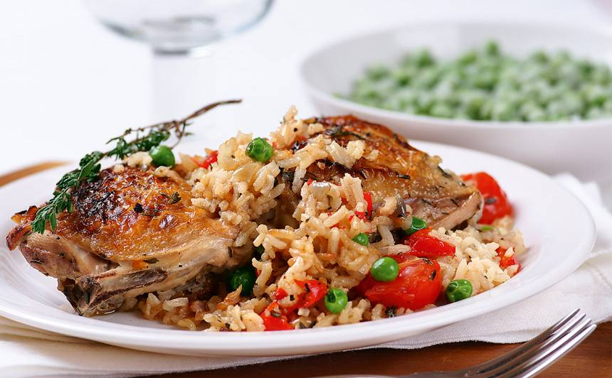 Vistas šķiņķīši rīsos recepte