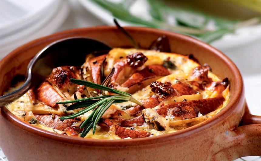 Kartupeļu un bumbieru sacepums recepte