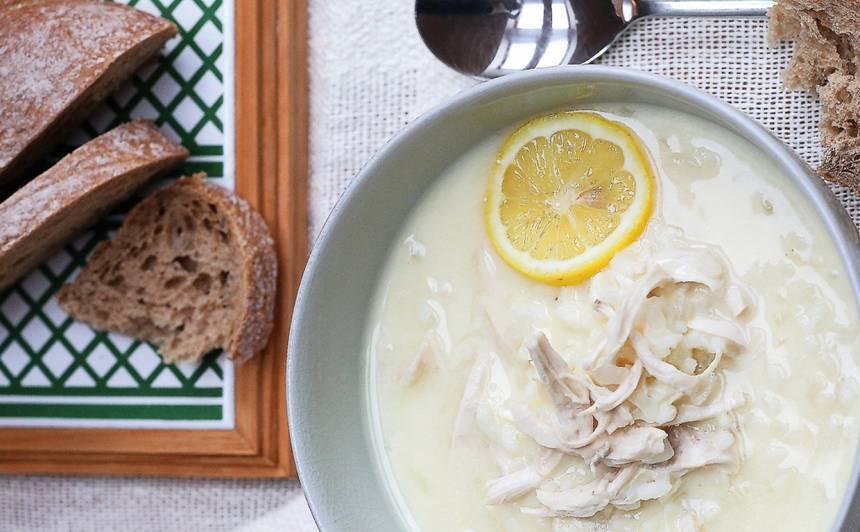 Grieķu citronu un vistas zupa recepte
