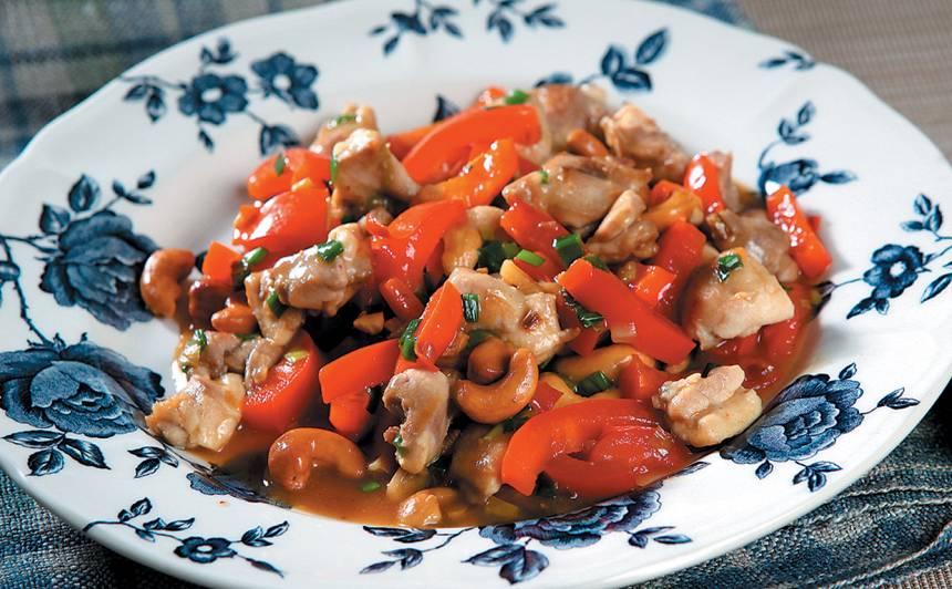 Vista ar papriku ķīniešu gaumē recepte
