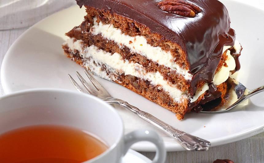 Pekanriekstu šokolādes torte recepte